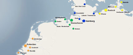 United Shipping Agency Vogemann GmbH – Locations of our ports